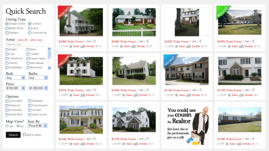 Wake County real Estate Search